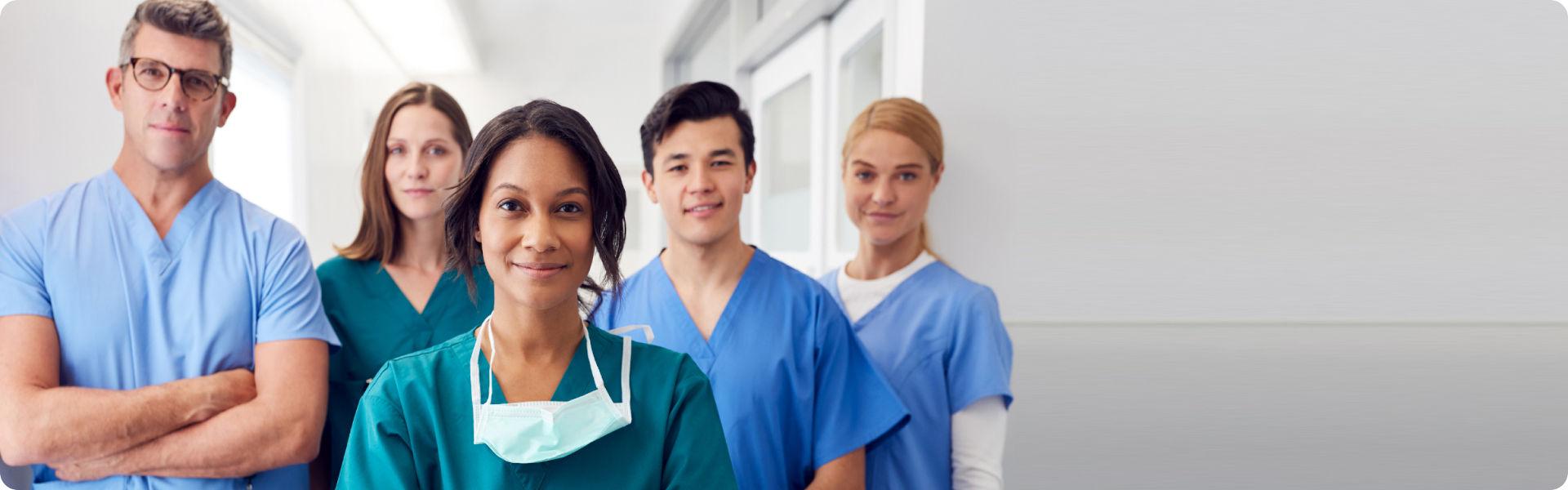 Grupo de enfermeiros